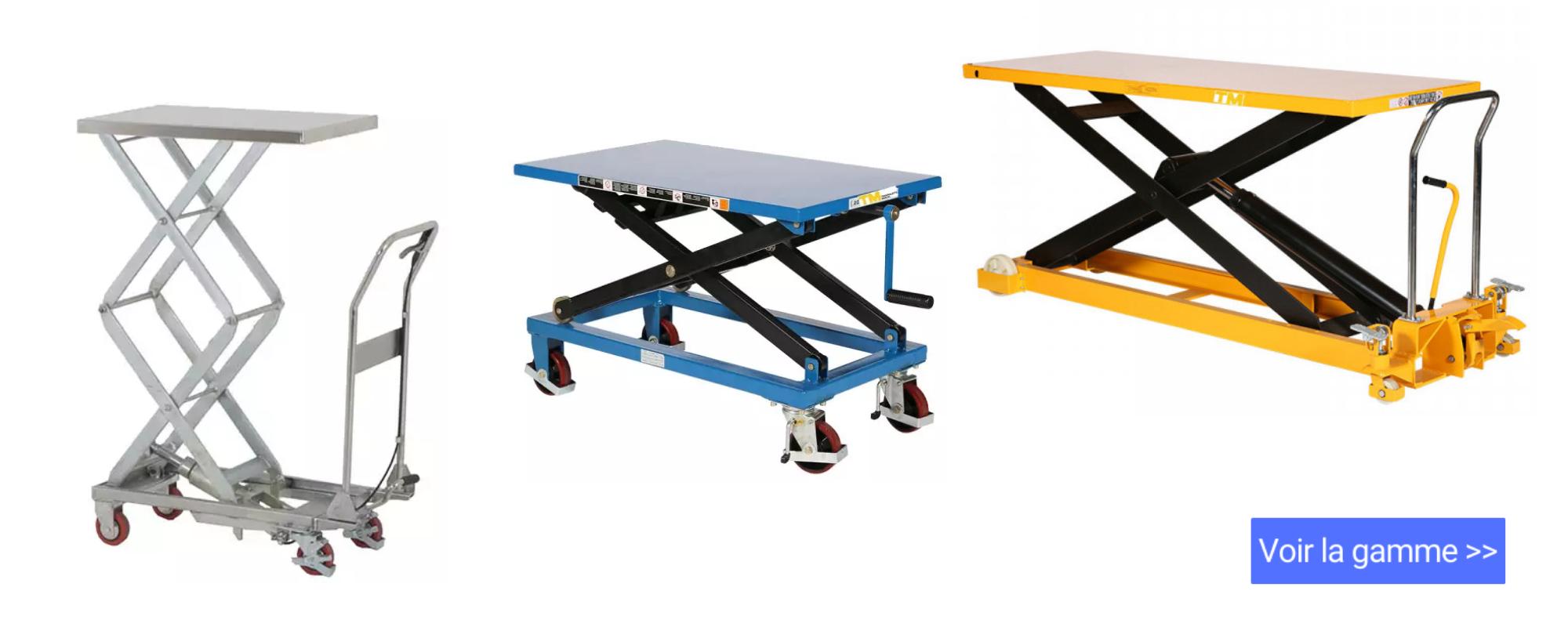 table-elevatrice-manuelle