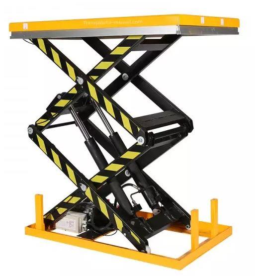 table élévatrice électrique 2000 kg double ciseaux