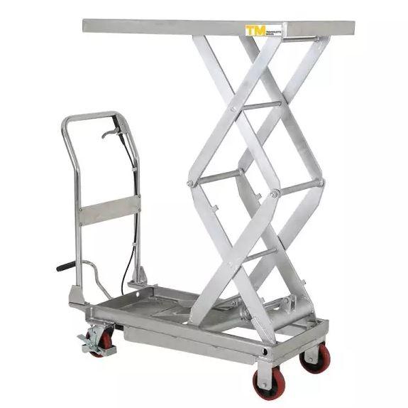 table élévatrice double ciseaux inox 350 kg