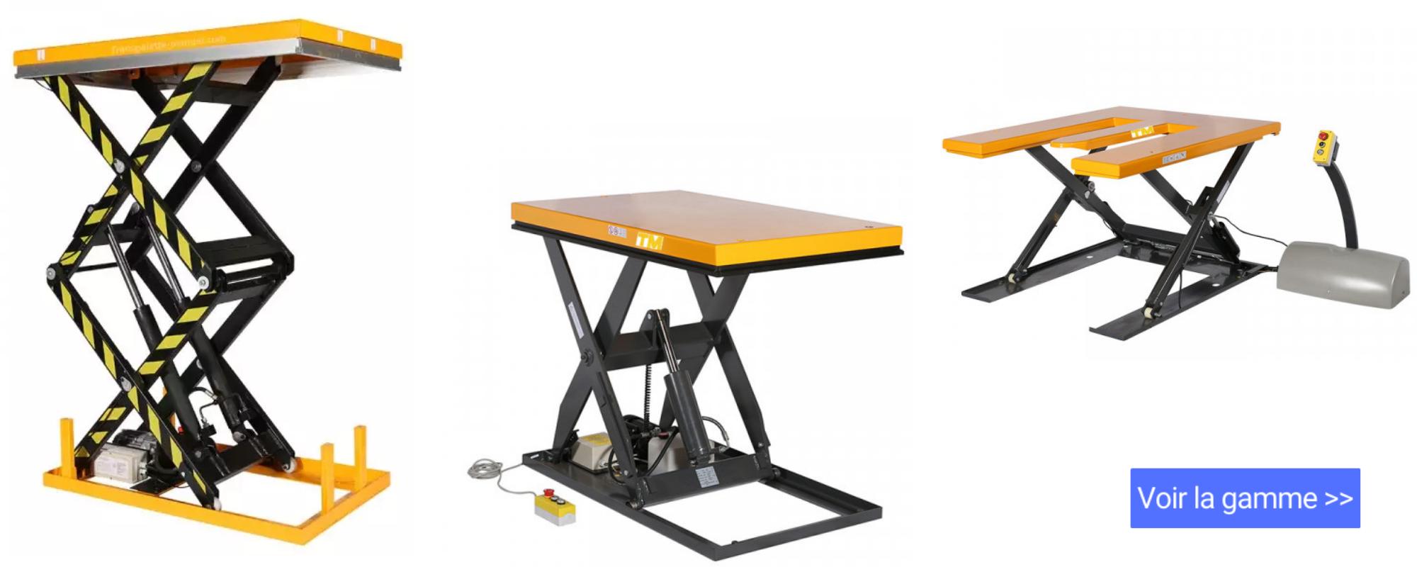 tables elevatrices electriques fixes