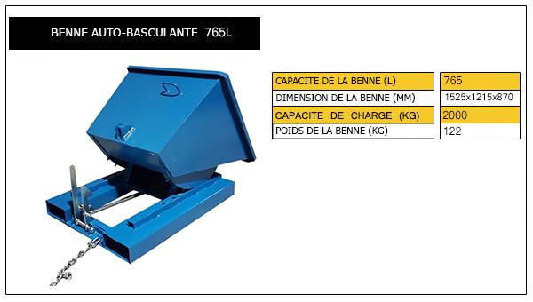 benne autobasculante 765L